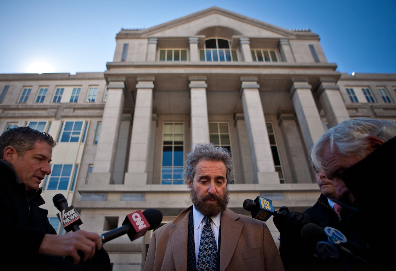 Mr. Cohen spoke outside the federal courthouse in Newark in 2011 after two of his clients, Mohamed Mahmood Alessa and Carlos Eduardo Almonte, pleaded guilty to conspiring to acts of terrrorism. Credit: Juan Arredondo for The New York Times